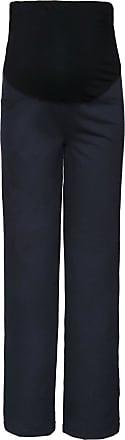 Happy Mama Womens Maternity Pants. Available in 3 Leg Lengths. 691p (Medium Length Graphite, UK 16/18, 2XL)