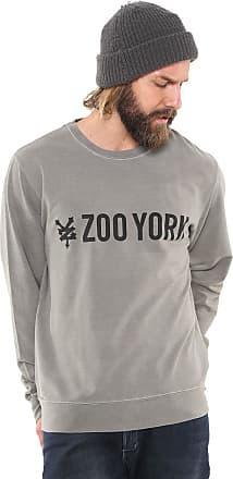 Zoo York Moletom Fechado Zoo York Basic Logo Cinza