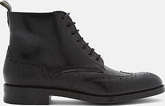 Ted Baker Leather Brogue Detail Lace Up Boots in Black TWRENS, Mens Accessories