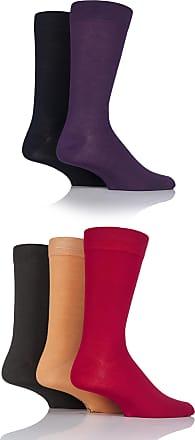 SockShop Mens 5 Pair SockShop Plain Bamboo Socks - Fashion Cols 7-11