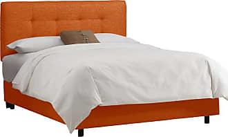 Skyline Furniture Patriot Tufted Upholstered Bed - Tangerine, Mens, Size: Queen - 272BEDPTRTNG