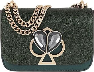 Kate Spade New York Nicola Glitter Twistlock Small Chain Shoulder Bag Deep Evergreen Umhängetasche grün