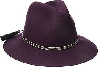 ále by Alessandra Womens Cavalo Adjustable Felt Hat with Horse Tail Trim, Bordeaux, Adjustable Head Size
