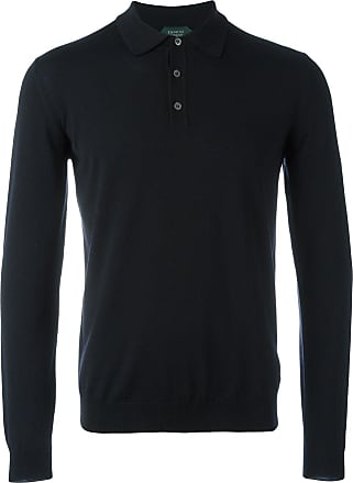 Zanone long-sleeved polo shirt - Blue