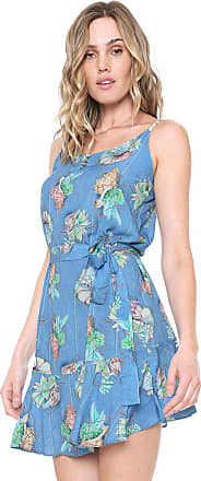 0aa665b0e0 Lunender Vestido Lunender Curto Estampado Azul