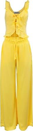 Anne Fernandes Conjunto Viscose Amarelo