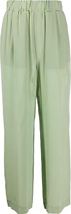 JEJIA Calça pantalona de seda - Verde
