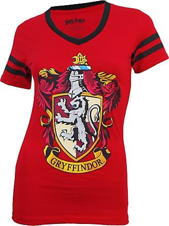 Harry Potter Womens Gryffindor V-neck T-shirt X-Large Red