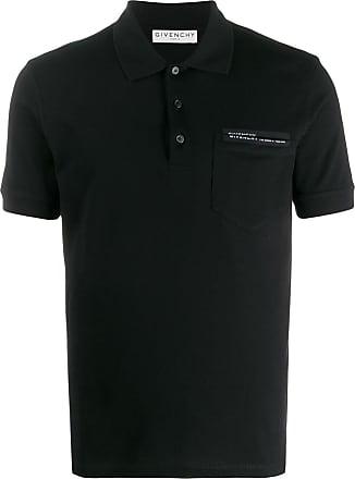 Givenchy Camisa polo de algodão com logo - Preto