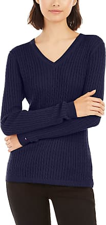 Tommy Hilfiger Womens Classic Fit V-Neck Sweater Pullover Sweater