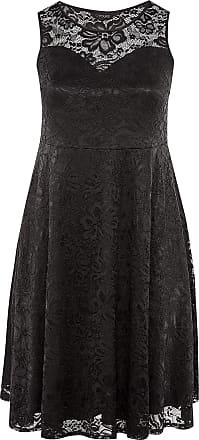 Yours Clothing Clothing Womens Sleeveless Lace Dress Plus Size 16-36 Size 30-32 Black