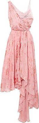 Preen Preen By Thornton Bregazzi Woman Elenora Asymmetric Devoré Silk-blend Chiffon And Crepe De Chine Dress Baby Pink Size XL