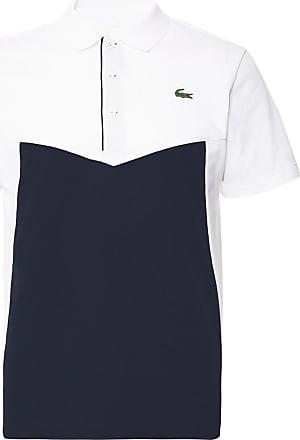 80e5d267a691 Lacoste Colour-block Cotton-jersey Tennis Polo Shirt - White