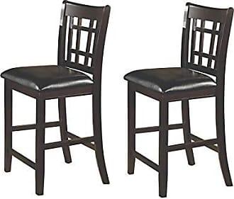 Coaster Fine Furniture Lavon 24 Counter Stools Black and Espresso (Set of 2)
