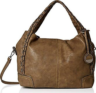 Mg Collection Slouchy Woven Handle Bag, Olive Green, One Size