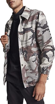 Urban Classics Mens Cotton Coach Jacket, Multicoloured (Grey Camo 00866), XL