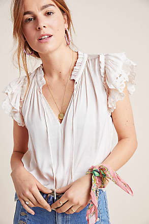 Current Air Ruffled Satin Blouse
