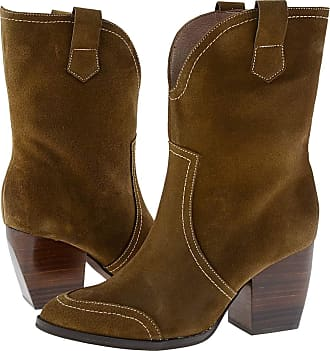 Wonders M-4106 High Heel Leather Ankle Boots for Women Size: 4 Color: Chestnut