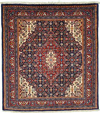 Nain Trading 77x70 Handknotted Sarouk Rug Purple/Pink (Wool, Iran/Persia)