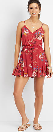 Maurices Floral Flounce Bottom Romper