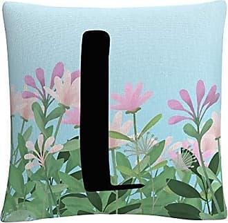 Trademark Fine Art Pink Floral Garden Letter Illustration L by ABC