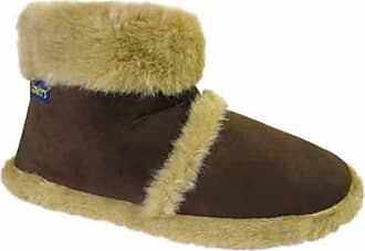 Mens Coolers Boot Slippers Beige Brown Warm Lined Slip On Sizes 7 to 12
