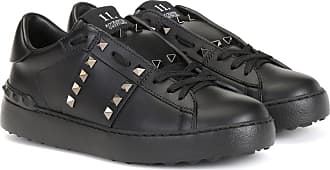 cdffce8fdc65 Valentino Rockstud Untitled Noir leather sneakers