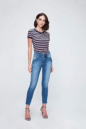 Damyller Calça Jeans Cropped com Cintura Alta Tam: 34 / Cor: BLUE