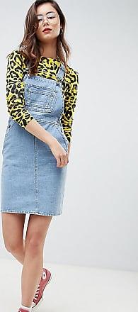 Asos Tall ASOS DESIGN Tall - Vestito di jeans a salopette blu vintage