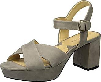 cf5694493f06 Adrienne Vittadini Footwear Womens Powel Heeled Sandal Granite 6 M US