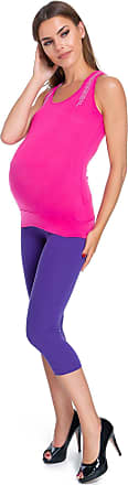 FUTURO FASHION Pregnancy Cropped Leggings Very Comfortable 3/4 Maternity Pants All Colours and Sizes 8-22