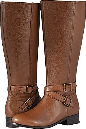 312a5164d6a9 Trotters Womens Liberty Wide Calf Fashion Boot Cognac 12.0 2W US