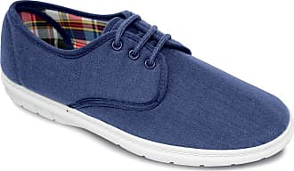 Chums Mens Canvas Wide Fit Lace Up Shoe Navy 13 UK