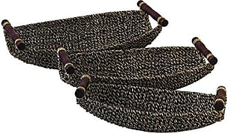 UMA Enterprises Inc. Deco 79 87536 Seagrass Metal Basket Set of 3