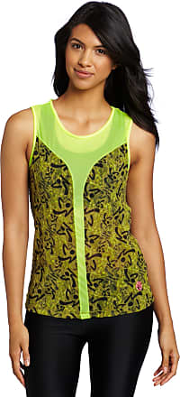 Zumba Fitness Womens Be Free Sleeveless Top (Saftey Yellow, X-Large), - Safety Yellow, X-Large