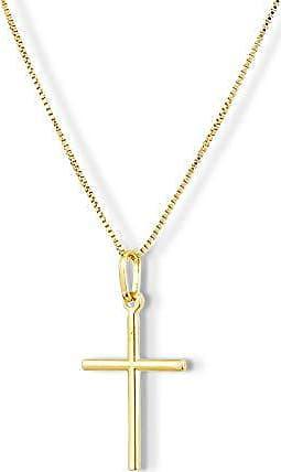 Design Medalhas Pingente Crucifixo semijoia banhado Ouro 18k