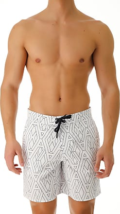 Emporio Armani Swim Shorts Trunks for Men On Sale in Outlet, White, polyester, 2017, S (EU 46) M (EU 48) XS (EU 44)
