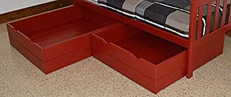 A & L Furniture A & L Furniture 3240TRP 2 Piece Bed Drawers, Full, Tractor Red