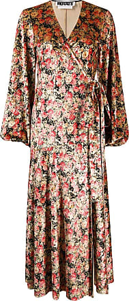 Rotate Vestido envelope floral - Rosa
