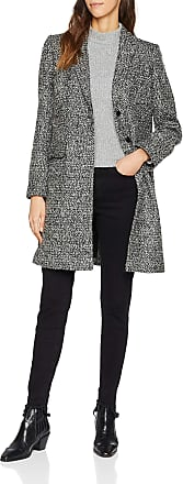 French Connection Womens Beverly Coat, Black (Black/White), 14 (Size: L)