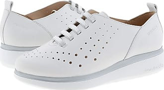 Wonders A-9702 Leather Wedge Trainers Cushioned Insole Size: 3 Color: White