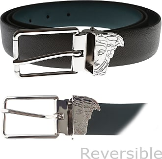Versace Mens Belts On Sale, Reversible, Dark Grey, Leather, 2017, Universal size