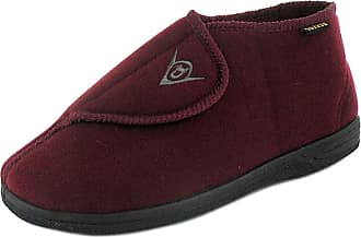 Dunlop Mens Quality DUNLOP Burgundy/ Orthopaedic Touch Fastening Adjustable Boot Slippers, Burgundy, 9 UK