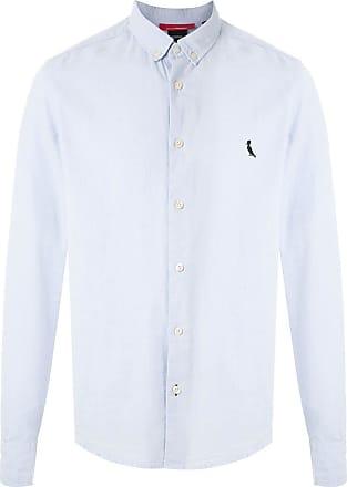 Reserva Camisa Sport Oxford com logo - Azul