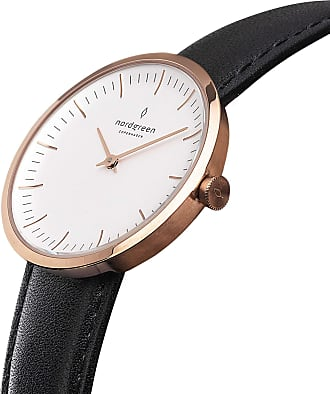 Nordgreen Infinity - Rose Gold | Black Leather - 32mm / Rose Gold