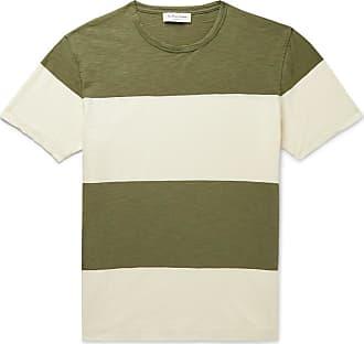 Ymc You Must Create Striped Slub Cotton-jersey T-shirt - Army green