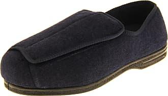Footwear Studio Coolers Mens Touch Fastening Eee Wide Fit Slippers Navy Blue UK 10