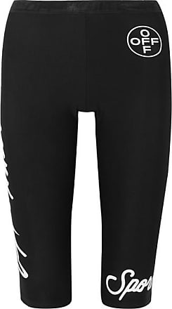 Off-white Printed Stretch Leggings - Black
