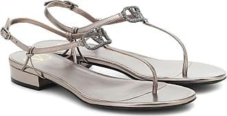 Valentino Garavani VLOGO Glow metallic leather sandals