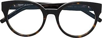 Saint Laurent Eyewear round shaped glasses - Marrom